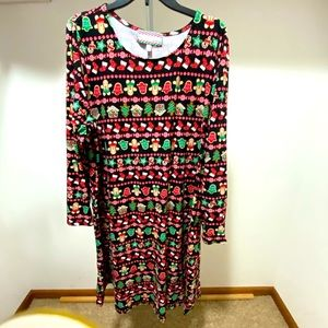 Christmas Stretchy Dress Plus 3X